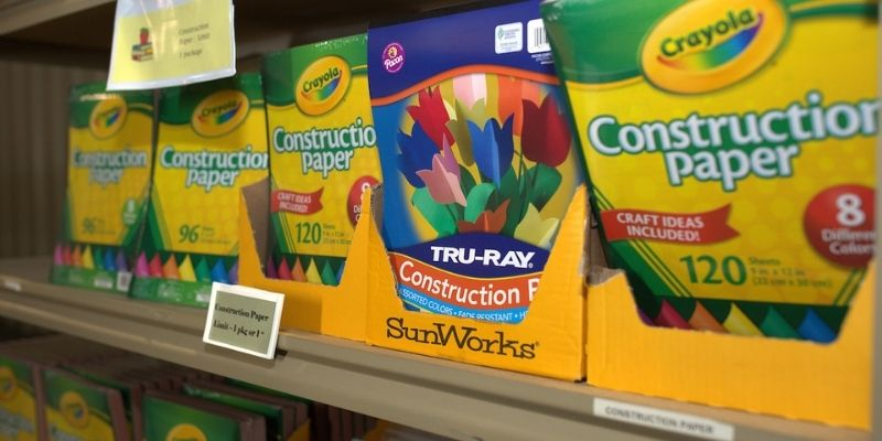 A club collects school supplies