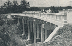 This concrete bridge replaced a large wooden structure that had been built by the Corbin, Kentucky, community, led by their Kiwanis club..