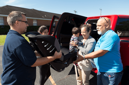 Members of the New York District donated food and supplies
