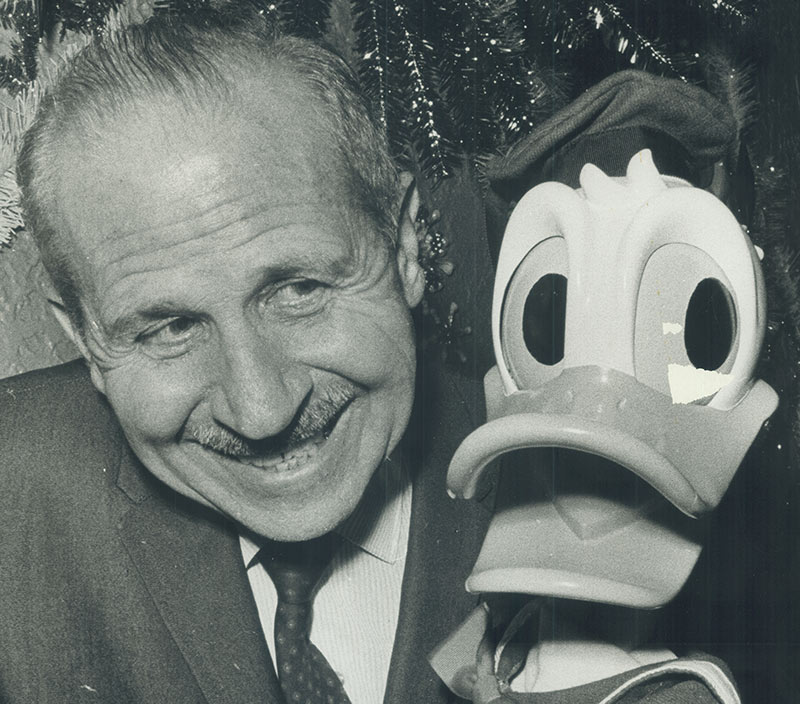 Clarence Nash and Donald Duck