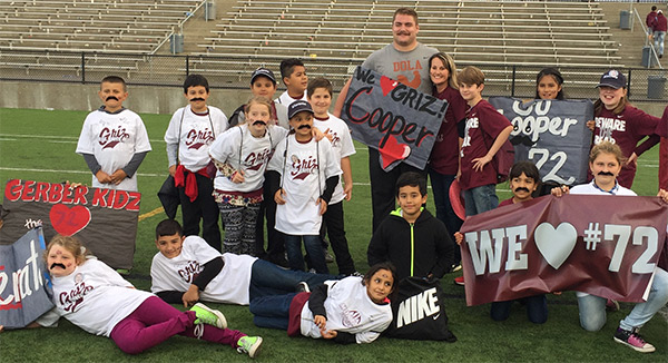University of Montana's Cooper Sprunk meets his California pen-pals face-to-face.