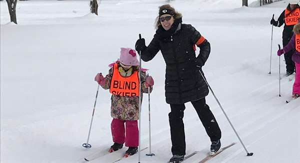 Kids with visual impairments discover the joy of cross-country skiing