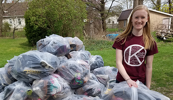 The Michigan District collects shoes to raise money for The Eliminate Project.