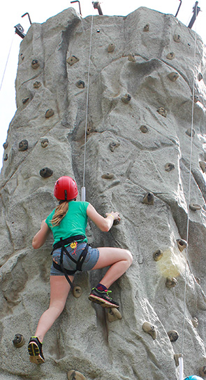 Wall climbing is one of the Kiwanis Youth Outdoor Days activities.