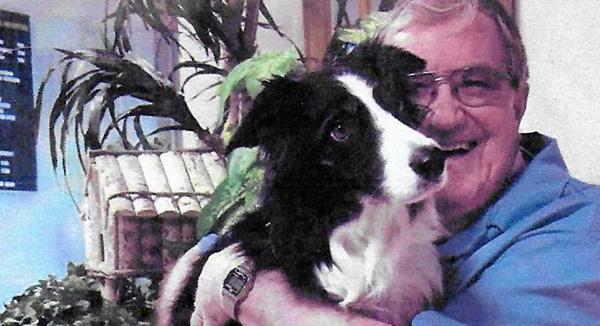 Canadian veterinarian Jim McDonald with a friend.