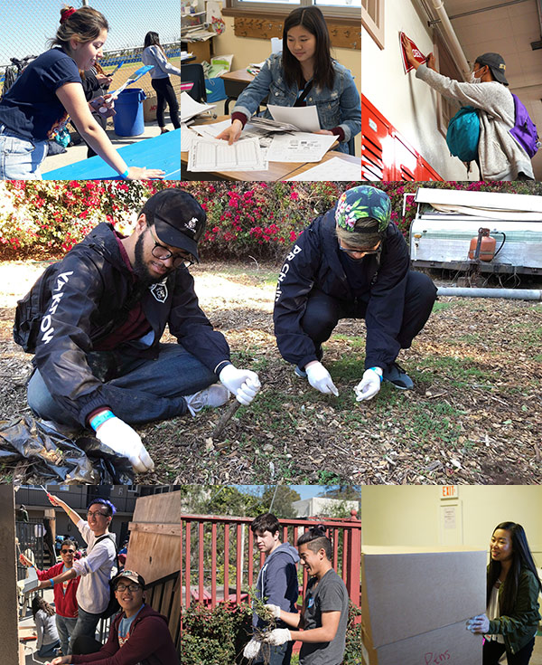 CKI members from the California-Nevada-Hawaii District participate in a large-scale service project event.