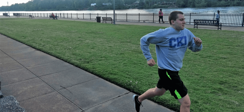 Justin Crofoot isn't an athlete, but that hasn't stopped him from running and walking 115 miles in March to raise money and awareness for CKI's new signature project to help families have clean water.