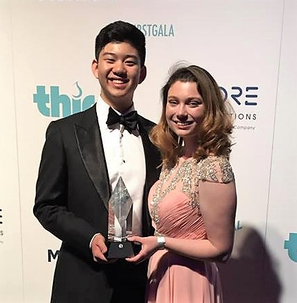 California. Key Club International President Devin Sun, along with Vice President Mary Grace Lewis, accepted the award on behalf of Key Club's 260,000 high school members.