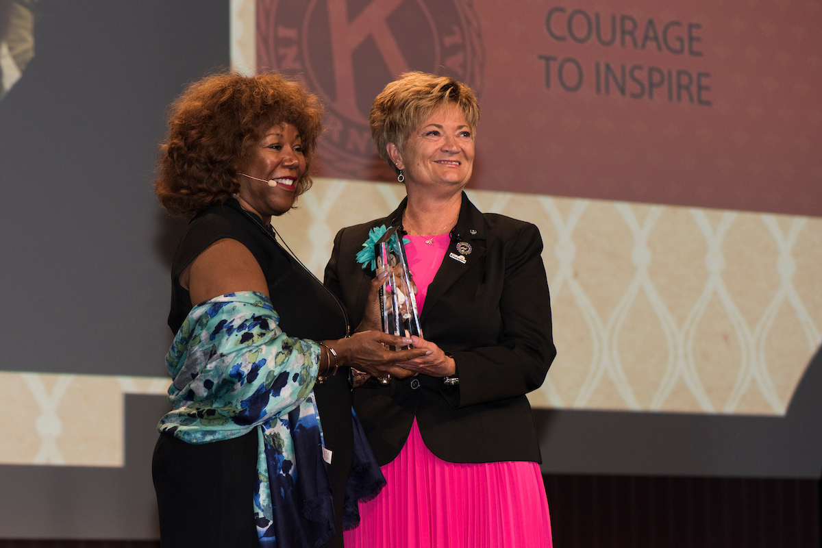 They were civil rights pioneers and didn't know it. Ruby Bridges and Barbara Henry were both honored by Kiwanis at the Paris convention.