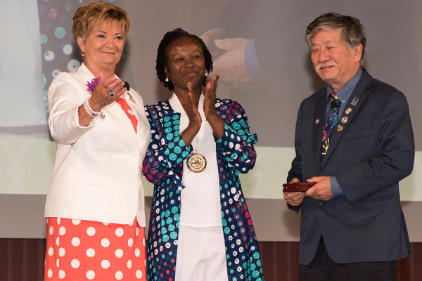 The World Service Medal is the highest honor Kiwanis gives