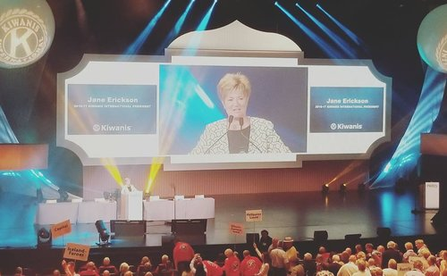 Kiwanis International President Jane Erickson at the 2017 Kiwanis International convention in Paris