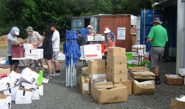 Kiwanis-family members in New Zealand have come together to pack a 40-foot shipping container
