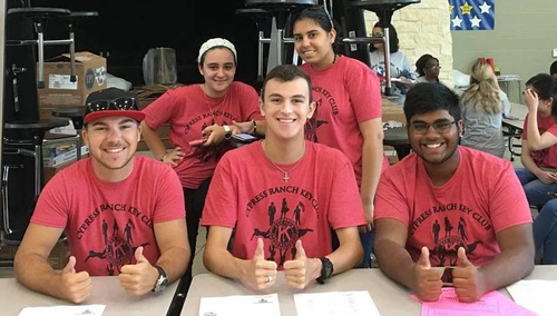 Key Club members jump into action after Hurricane Harvey
