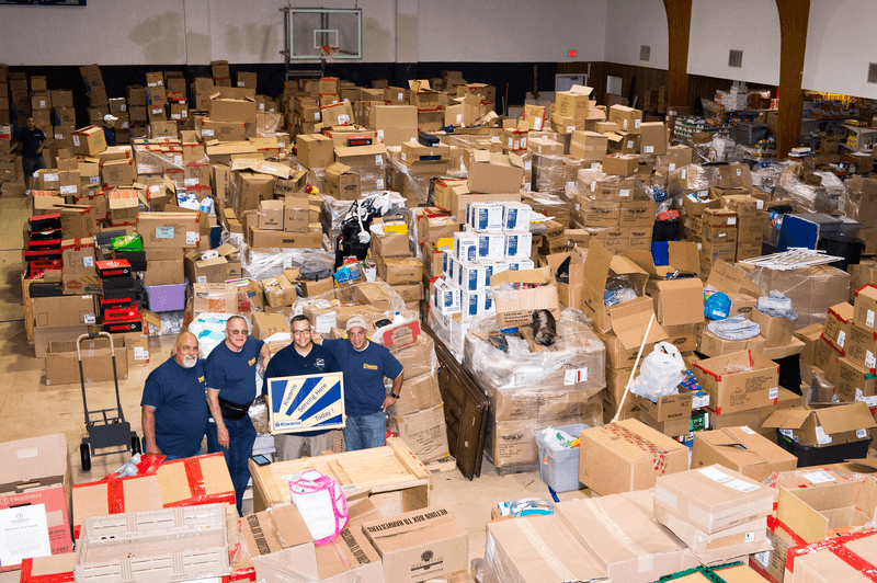The supplies will help in the recovery from the destruction caused by Hurricane Harvey