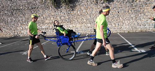 The Angoulême Kiwanis Club rents the Kiwanette to persons with disabilities for runs and walks.