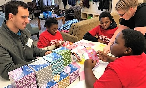 Builders Club students showcase philanthropy projects
